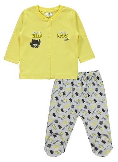 Batman Batman Erkek Bebek Pijama Takımı 0-9 Ay Sarı Batman Erkek Bebek Pijama Takımı 0-9 Ay Sarı Sarı
